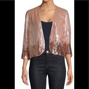 Parker Rose Gold Sequin jacket, Size M